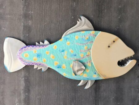 Gabe Heusso Lizzy Fish Wall Sculpture