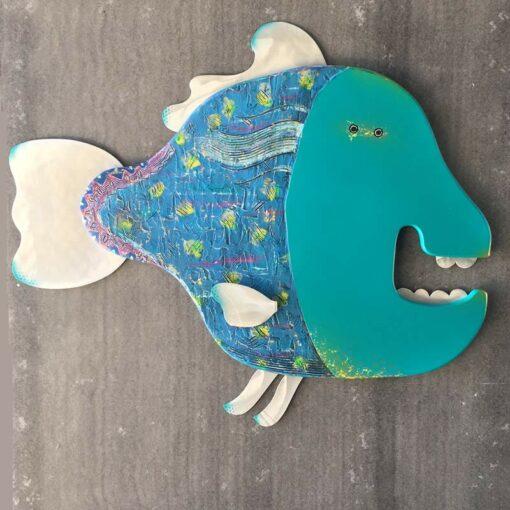 Gabe Heusso Ralphy Fish Wall Sculpture