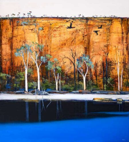 Ingrid Windram Blue Waterhole Painting 1