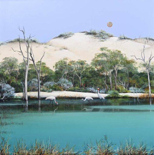 Ingrid Windram Brolgas Painting