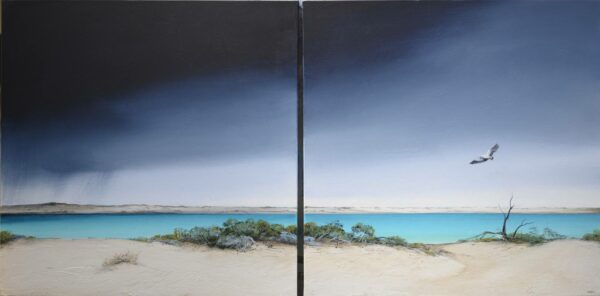 Ingrid Windram Passing Storm Diptych Painting
