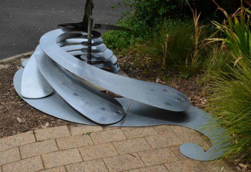 Jake Coghlan Breaching Whale Jinyo 3 Metal Sculpture