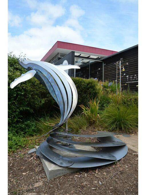 Jakr Coglan Breaching Whale Metal Sculpture 5