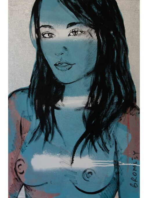 Kay In Blue David Bromley Painting