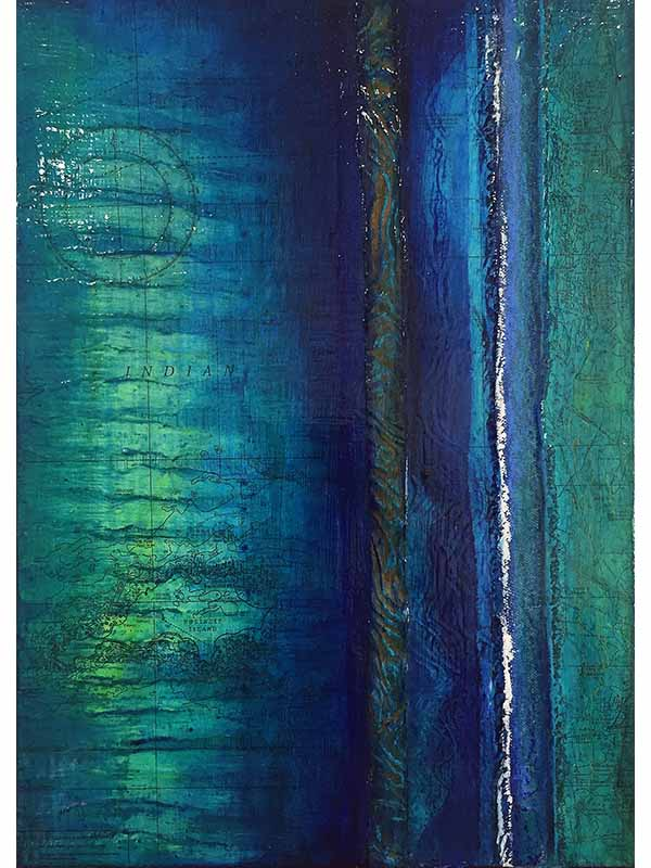 Narelle Pendlebury Emerald Curves Painting