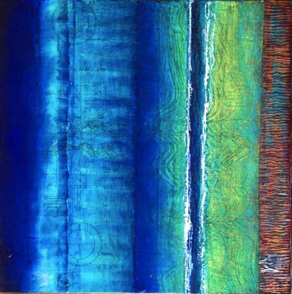 Narelle Pendlebury Pthalo Flow Painting