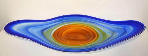 Coolamon Platter Blue Orange Blue Top