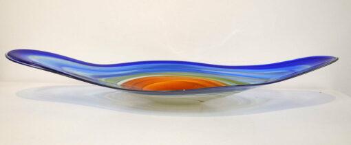 Coolamon Platter Blue Organge Side