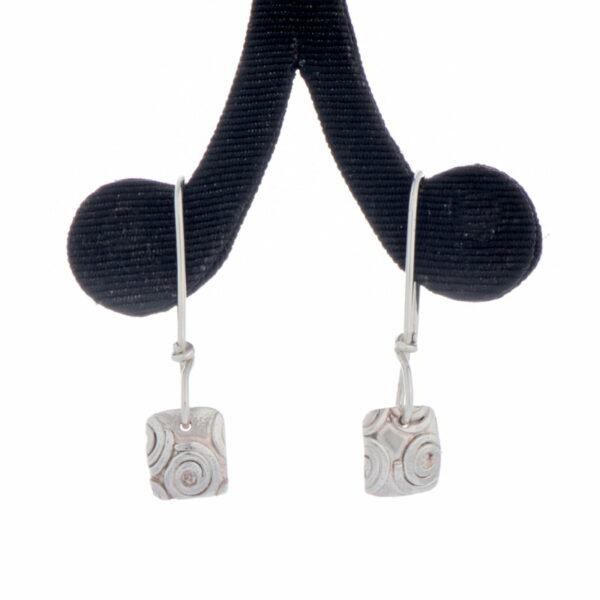 Emma Cotton Fused Scroll Earings