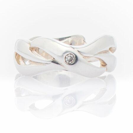 Gemma Baker Ring Diamond St Silver