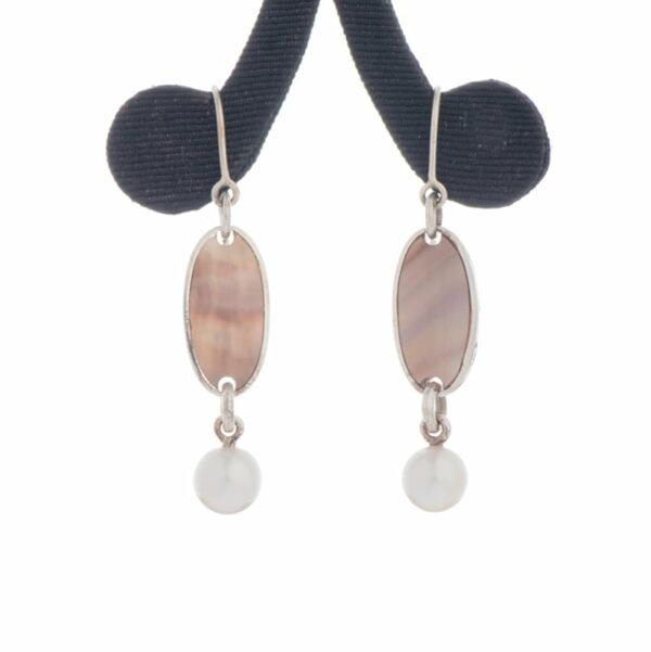 Jane Liddon Earings Pearl Shell Akoya Round Pearls