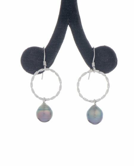 Jane Liddon Earings Round Black Lip Pearls
