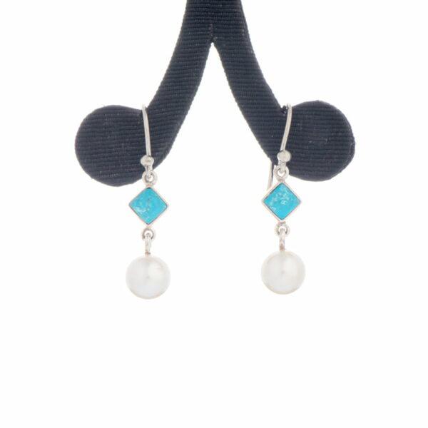 Jane Liddon Earings Turquoise Akoya Pearls