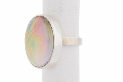 Jane Liddon Ring Oval Mabe Large White Side