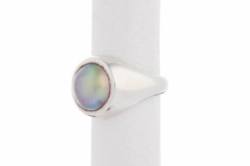 Jane Liddon Ring Round Mabe Pearl Black Lip Side