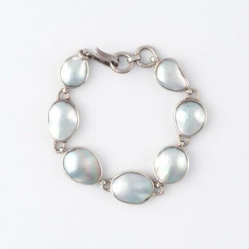 Jane Liddon Silver Sea Bracelet 7 Mabe Pearls
