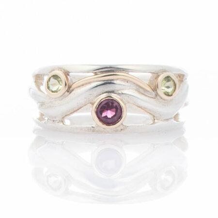 Ring Garnet Peridot