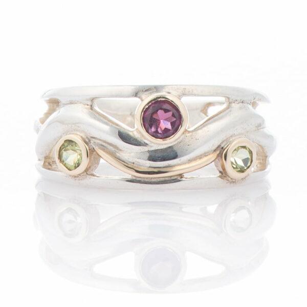 Ring Garnet Peridot 2