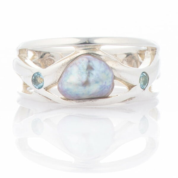 Ring Keshi Blue Tourmaline 895