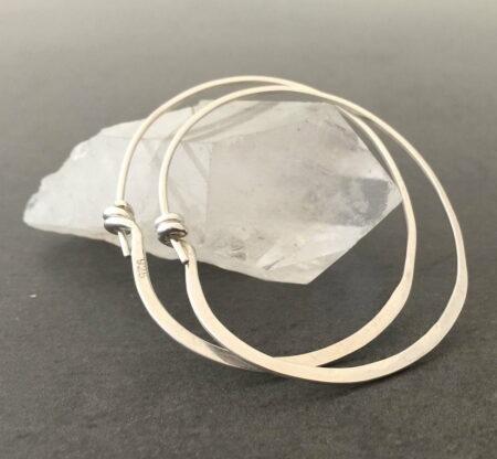 Emma Cotton Forged Hoop Earings