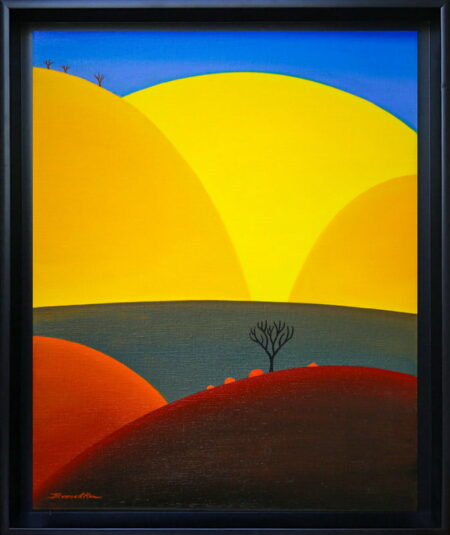 Bonnie Atlan Looking Up Painting Framed