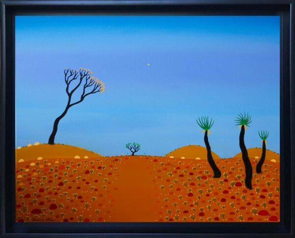 Bonnie Atlan Moon Gazing Framed Painting