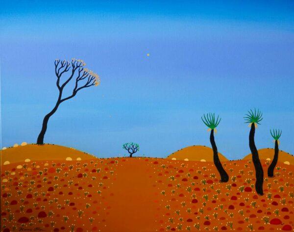 Bonnie Atlan Moon Gazing Painting