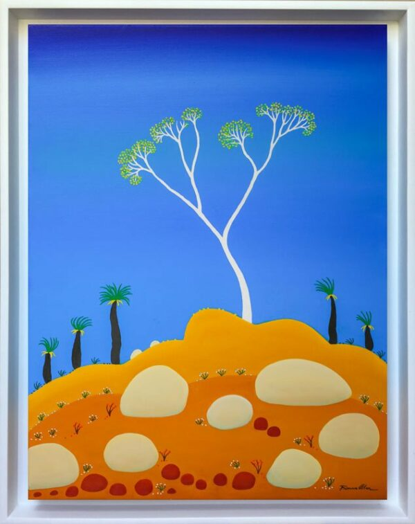 Bonnie Atlan On Top Of The World Painting Framed