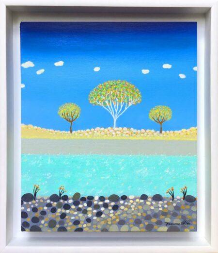 Bonnie Atlan Pebble River 32cm X 37 5cm Painting