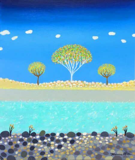 Bonnie Atlan Pebble River Framed Painting 1