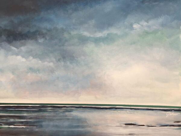 David Giles Serenity Green Painting