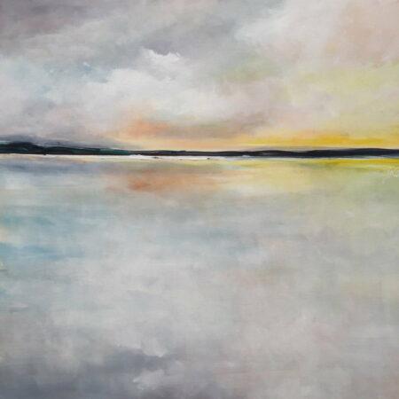 David Giles Sunset 76cm X 76cm