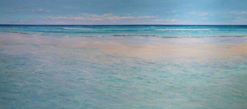 Ann Steer Sandbank Ripples Acrylic Paintings