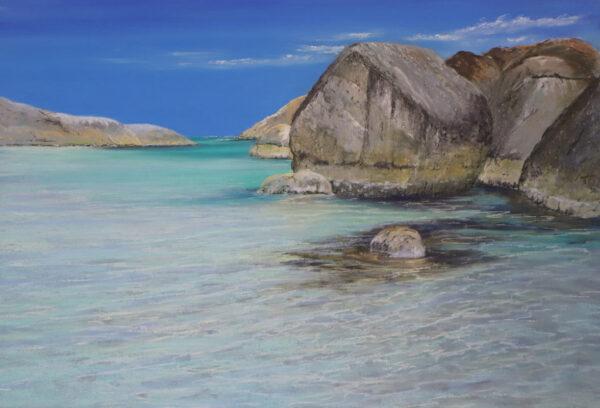 Ann Steer Tidal Flow Greens Pool Denmark Pastel Painting