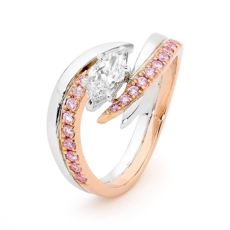 Desert Rose Collection Diamond Ring Argyle Pink Diamonds