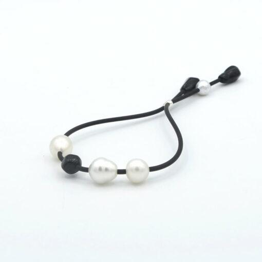 Evelyn Henschke Black Bead Pearl Bracelet 1