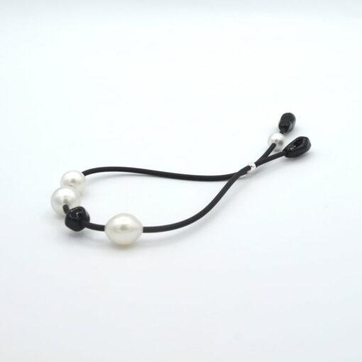 Evelyn Henschke Black Bead Pearl Bracelet 2