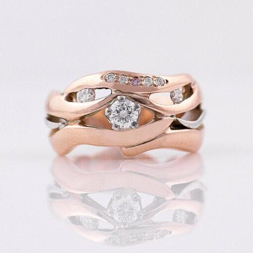 Gemma Baker Pink Diamond Rose Gold Ring