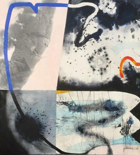 Geoff Wake Bluesnake 122cm X 132cm Painting
