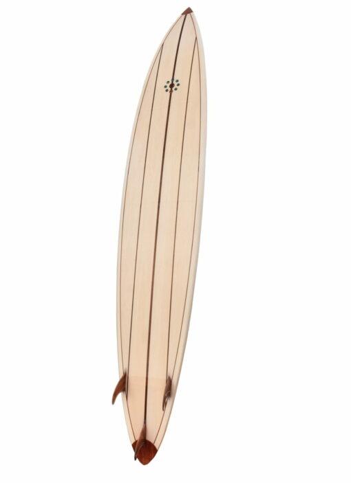 10ft Balsa Hollow Gun Surfboard Back Tall