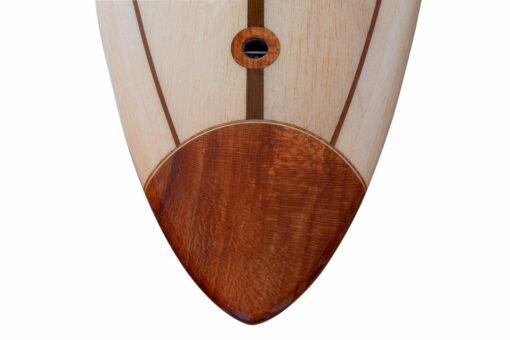 10ft Balsa Hollow Gun Surfboard Tail And Plug Detail