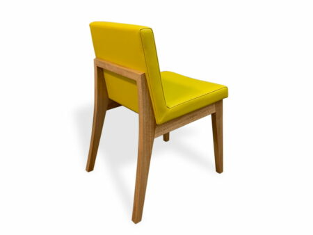 Bremer Dining Chair In Yellow Back