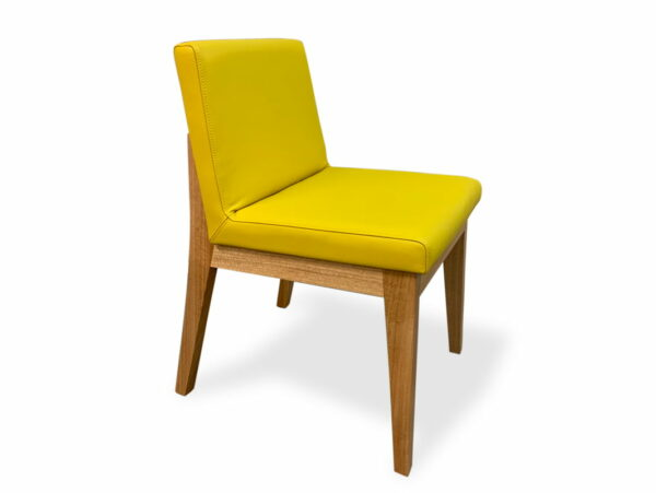 Bremer Dining Chair In Yellow Front Side