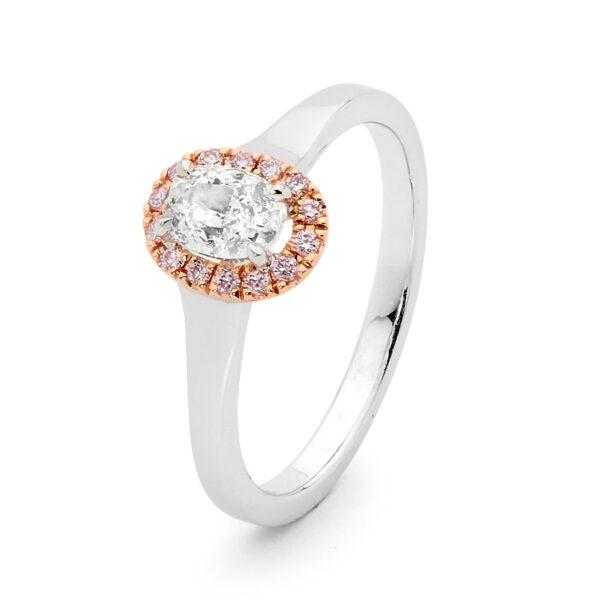 Desert Rose Jewellery Classic Pink Diamond Crown Ring Edjr019