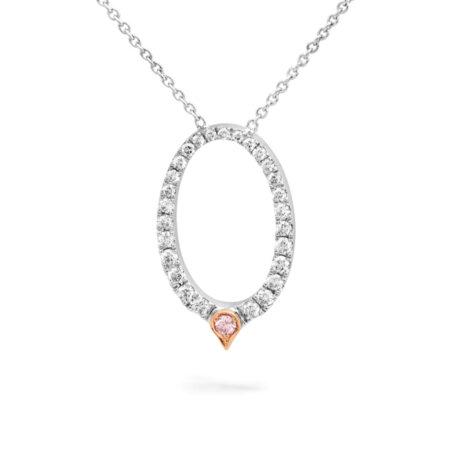 Desert Rose Jewellery Classic Pink Diamond Pendant Edjp025