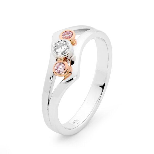 Desert Rose Jewellery Delightful Pink Diamond Dress Ring Edjr021