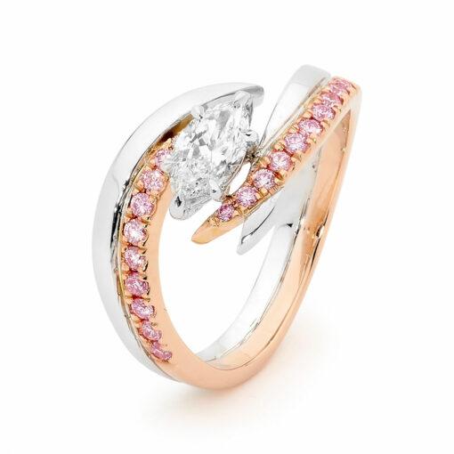 Desert Rose Jewellery Distinctive Pink Diamond Marquise Ring Edjr015