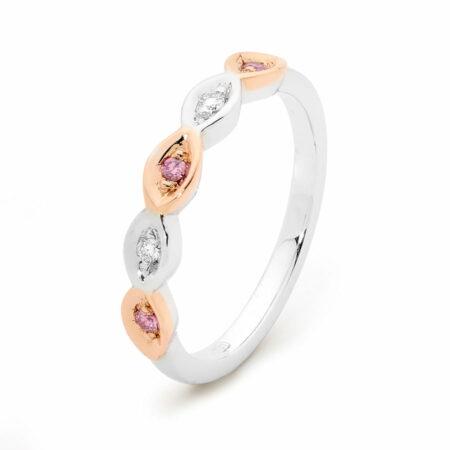 Desert Rose Jewellery Pink Diamond Droplet Ring Edjw004
