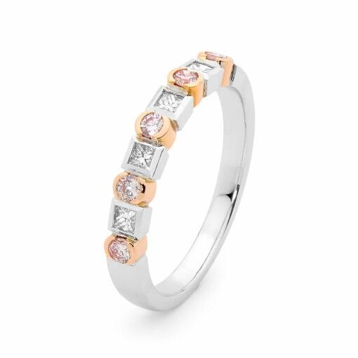 Desert Rose Jewellery Pink Diamond Round Square Wedder Edjw005