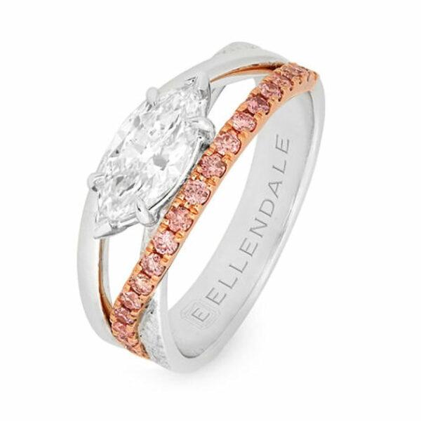 Desert Rose Jewellery Pink Diamond Suspension Ring Edjr08
